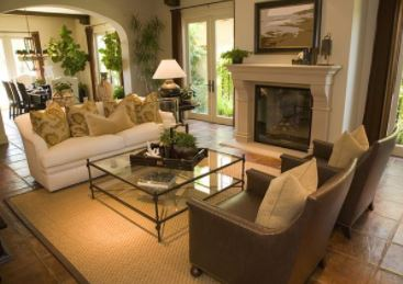 Living Room with sisal rug