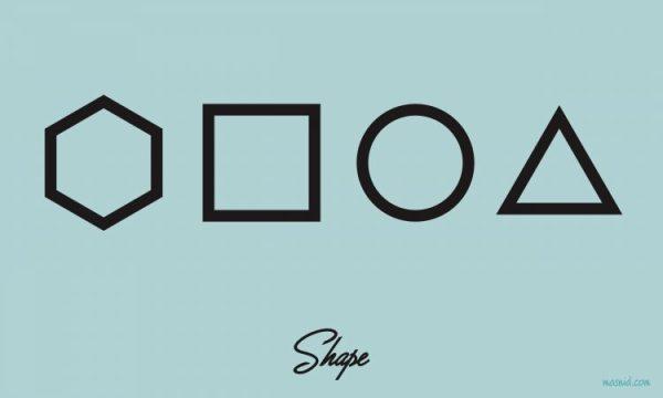 pengertian desain grafis - shape