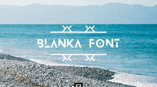 font tipografi - Font Blanka