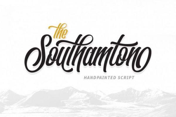 font Tipografi Southamton