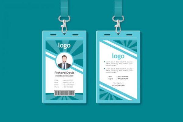 contoh desain id card 5