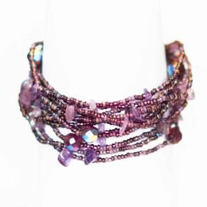 armband, Erupción 12, Guate!Guate, Guatemala, hantverk, lila, Masomenos, smycke