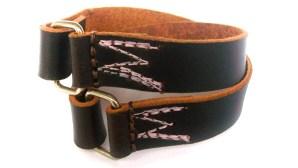 Stories of Past Lives Leather Bracelet Brown/Pink, återvunnet material, brun, rosa, Fair Trade, läder, unisex, konsthantverk, Guatemala