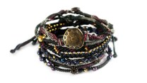 Wakami Earth Bracelet Night 7-set WA0389-20; svarta armband