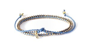Wakami Life is What You Make of It - Wrap Bracelet/Short Necklace - Dark Blue/Gold WA0295-29