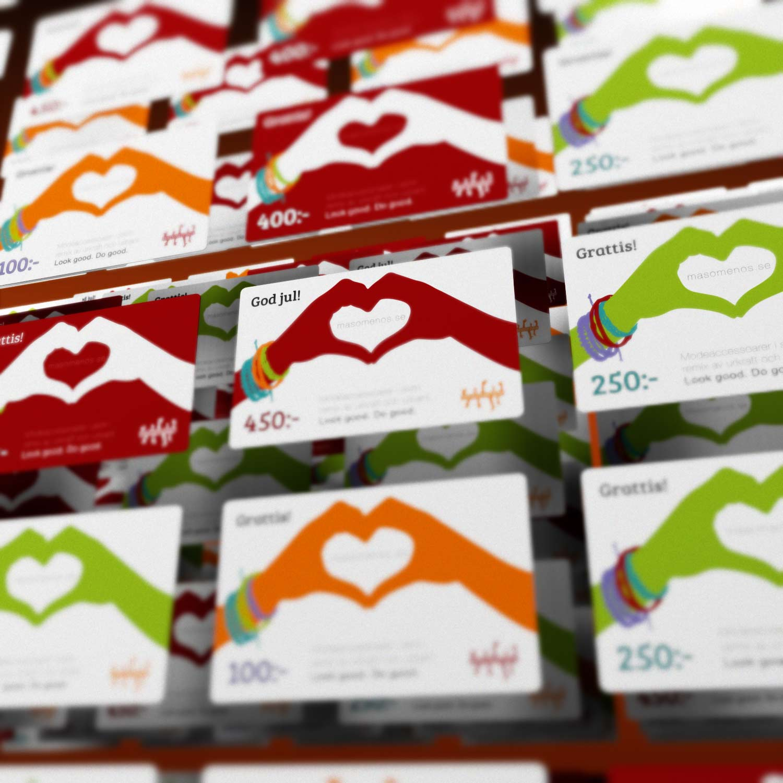 Masomenos presentkort i flera valörer