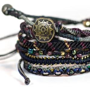 armband, Earth, Guatemala, konsthantverk, maya, mode, smycke, svart, Wakami