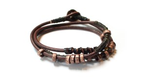 The 4 Elements Wrap Earth Bracelet Wakami WA0598-02 armband för män