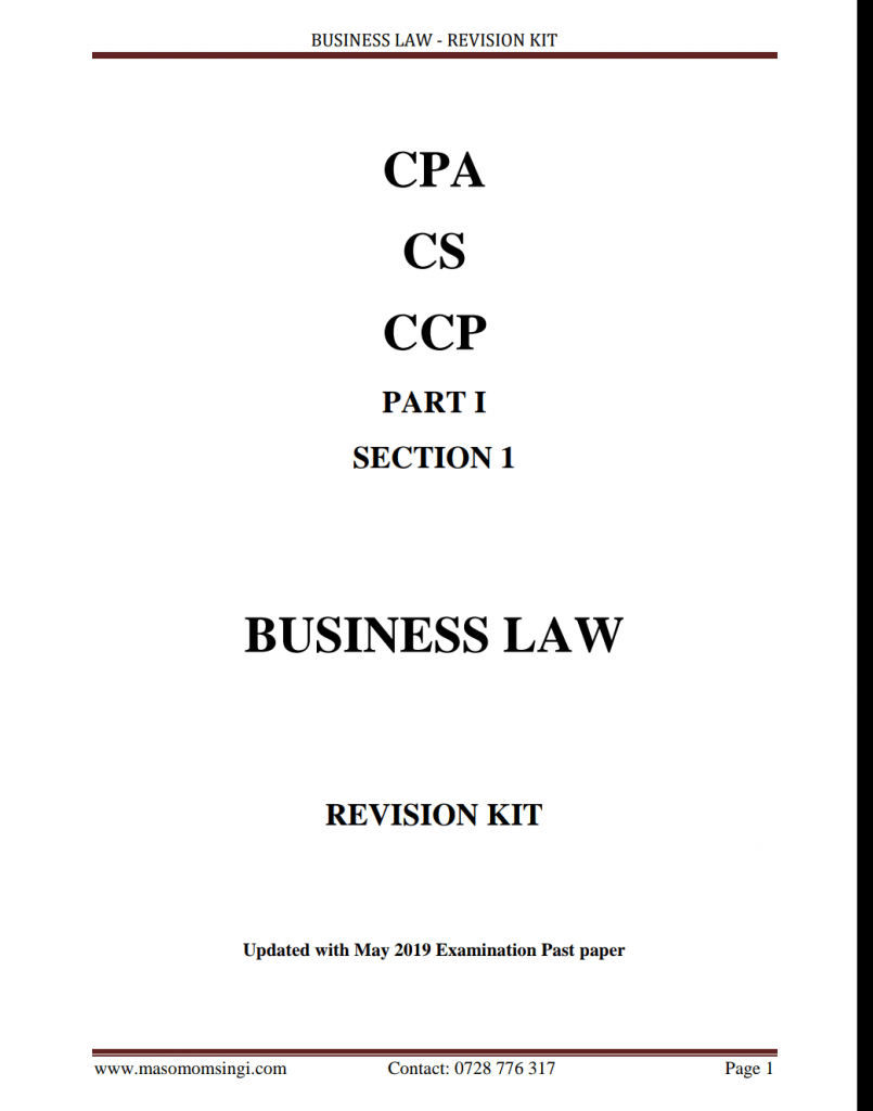 CPA REVISION KITS UPDATED WITH MAY 2019 QUESTION PAPERS