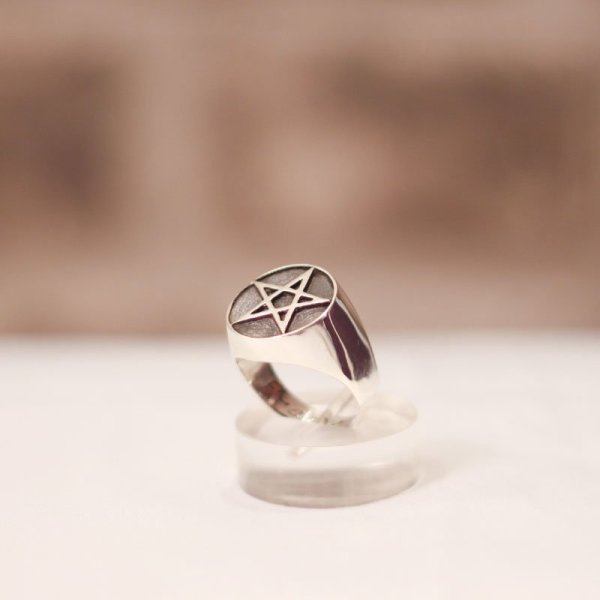 Occult Ring - Pentacle Jewelry Silver And