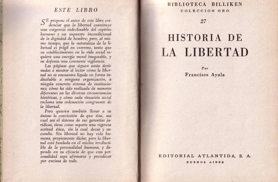 Historia de la Libertad de Francisco Ayala