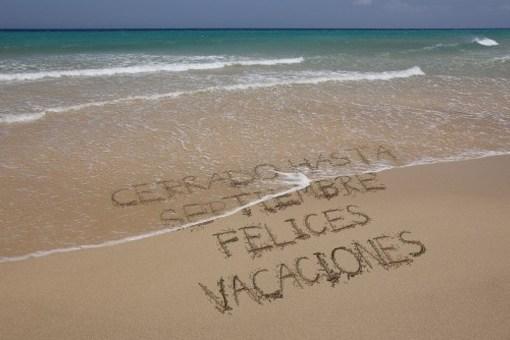 c errado por vacaciones