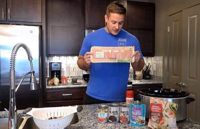 high-protein recipe slow cooker crock pot chicken fajitas