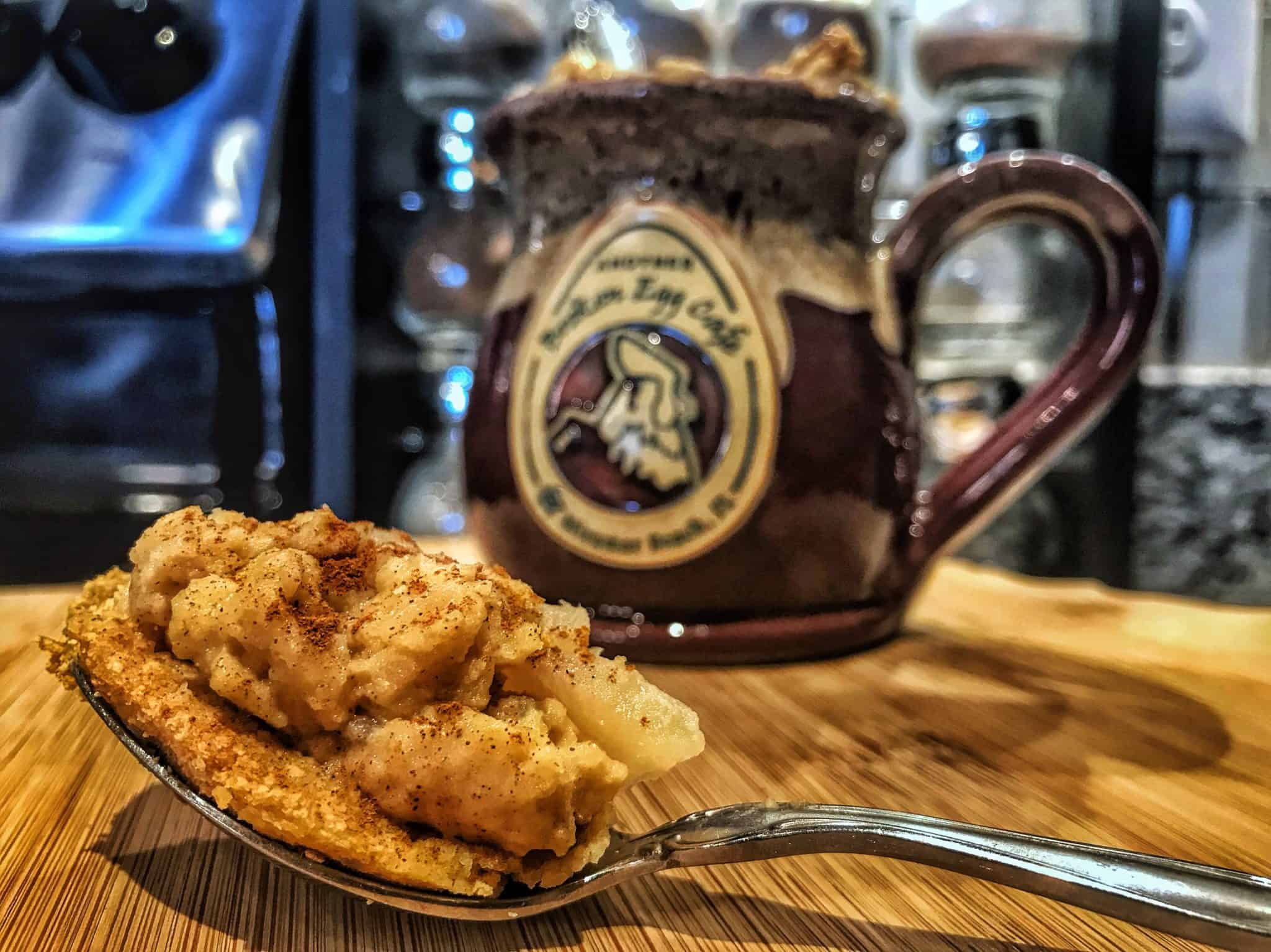 Post Workout Snacks: Microwaveable High Protein Apple Pie Recipe