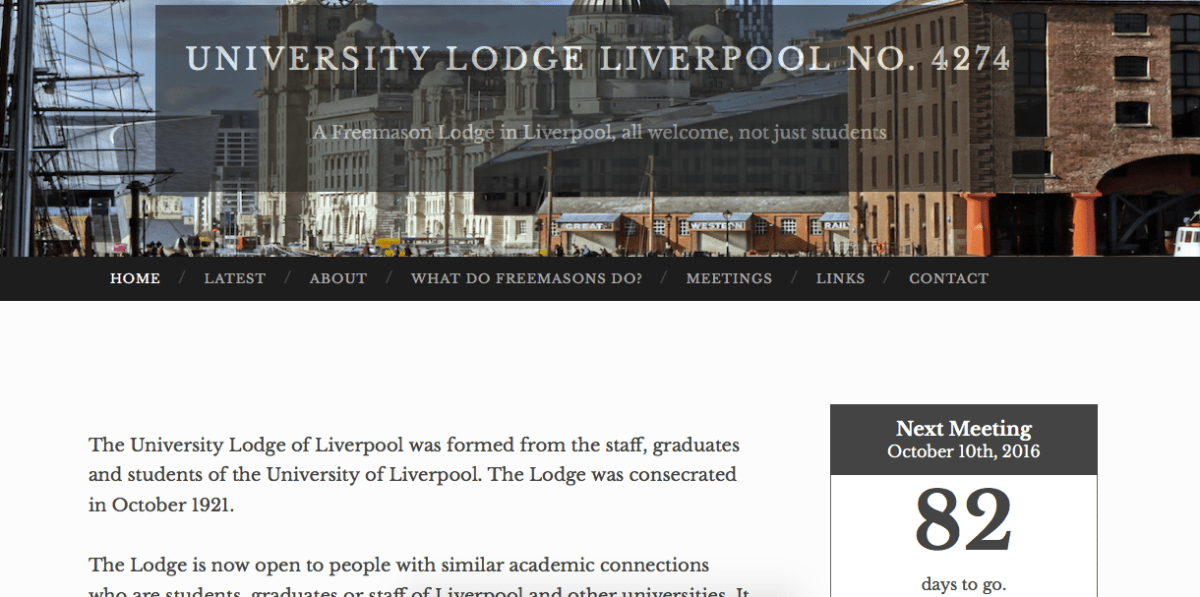 University Lodge Liverpool No. 4274 - Update the existing website