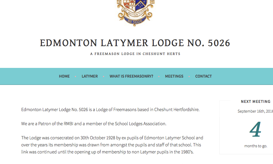 Edmonton Latymer Lodge website
