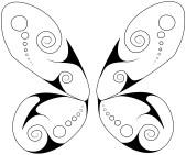swirly butterfly 2 wings