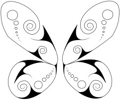 swirly butterfly 2 wings