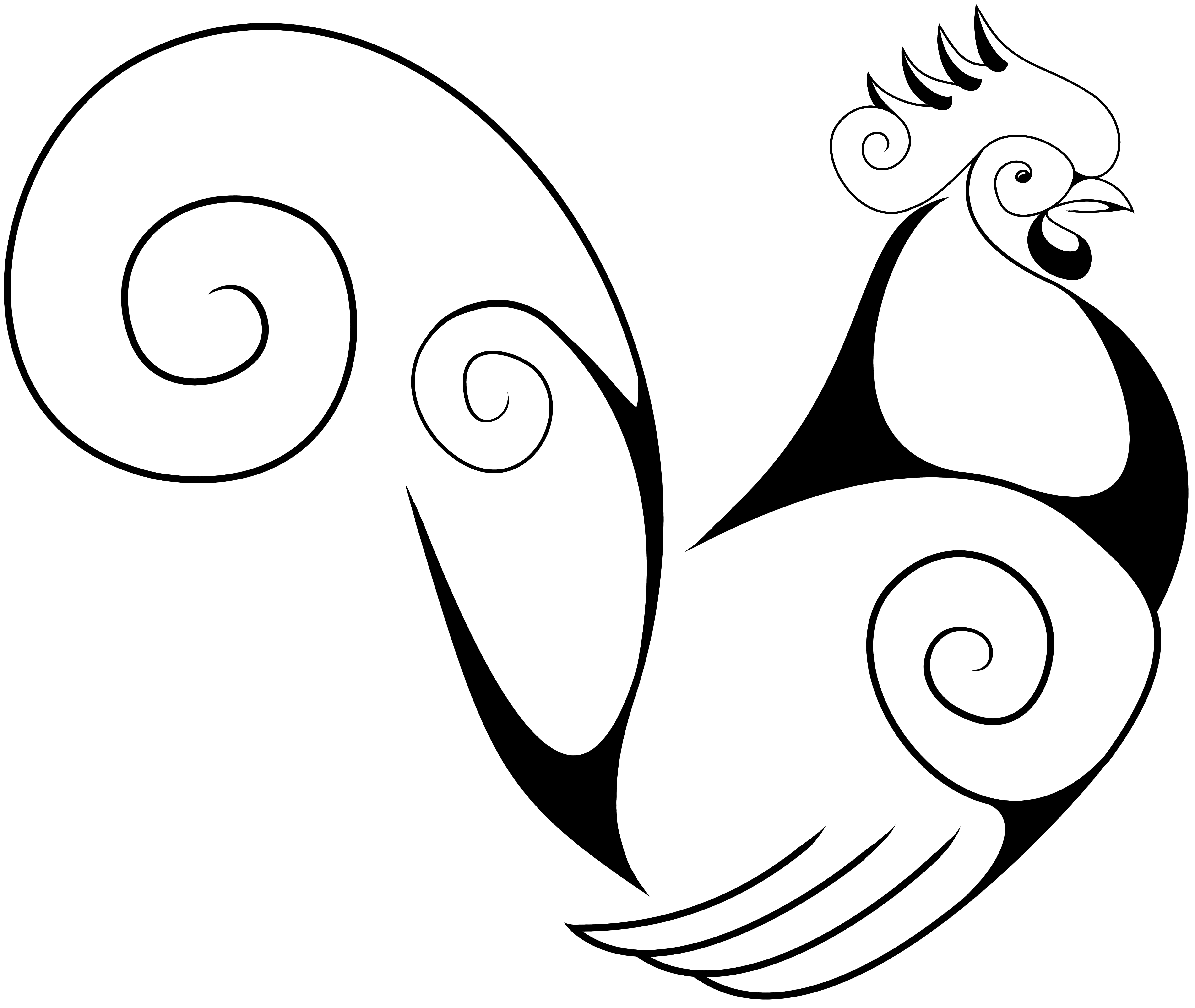 A Swirly Rooster