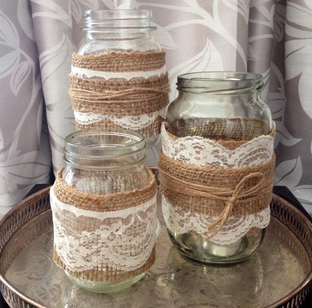 How to Make Burlap Mason Jars