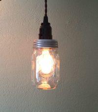 DIY Mason Jar Kitchen Lights - Mason Jar Crafts