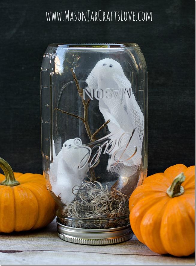 Ghosts In Mason Jars  Mason Jar Crafts Love