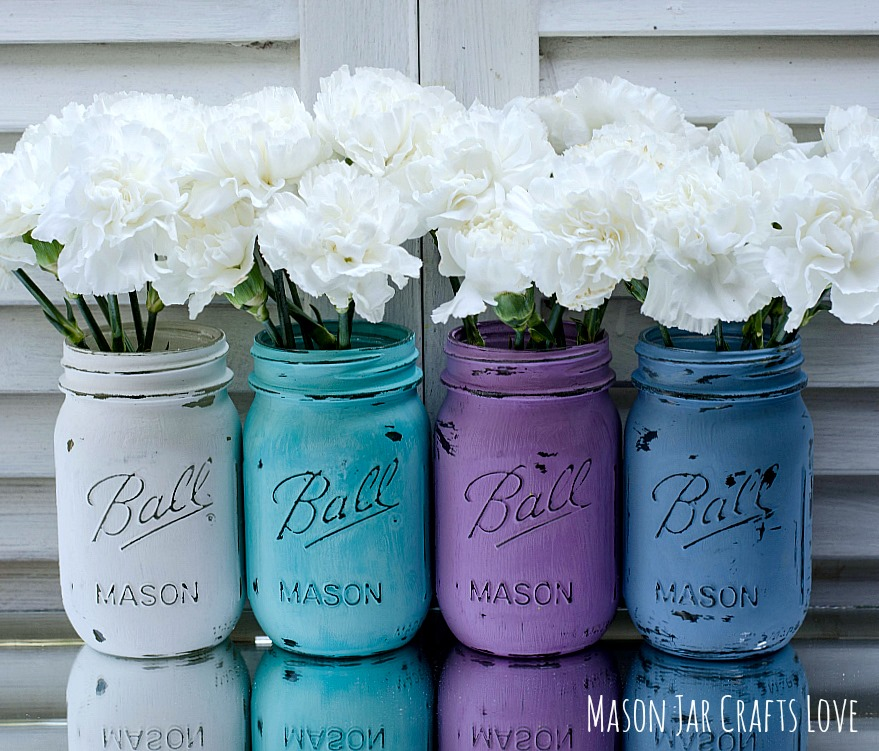 painted mason jars for
