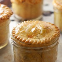Chicken Pot Pies in Jars