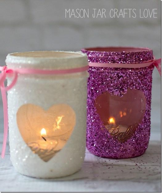 Valentine Mason Jar Candle 2