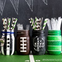 Football Party Mason Jars