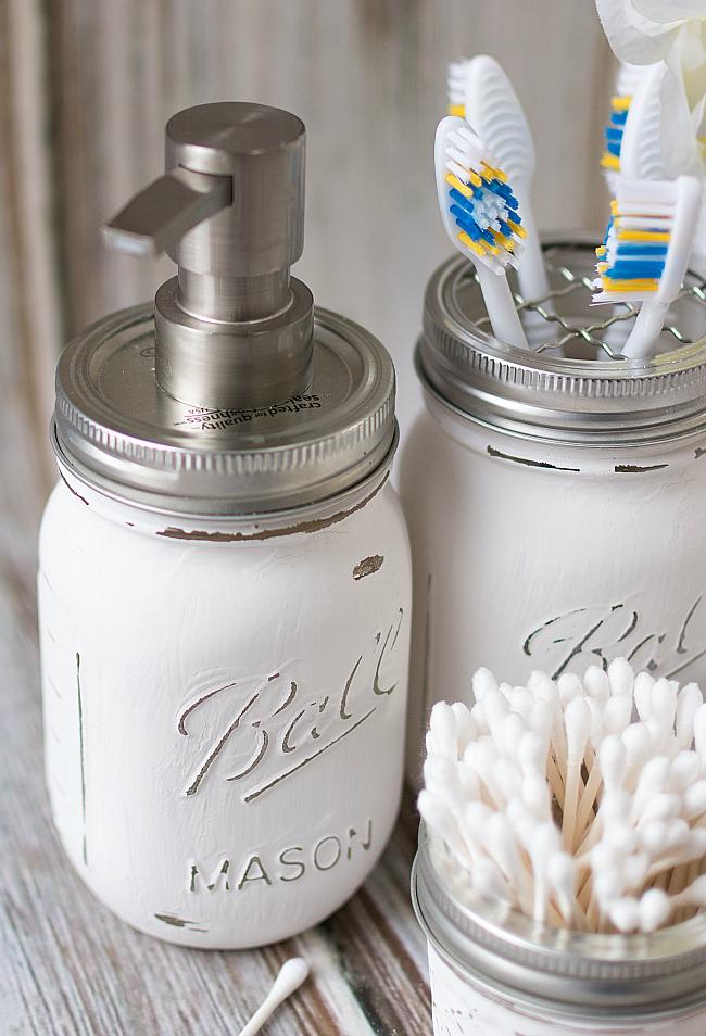 Mason Jar Bathroom Storage  Accessories  Mason Jar