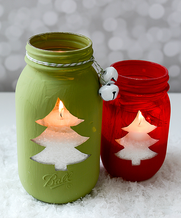 Decorated Mason Jars For Christmas