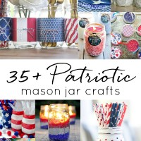 Memorial Day Mason Jar Crafts in Red, White & Blue