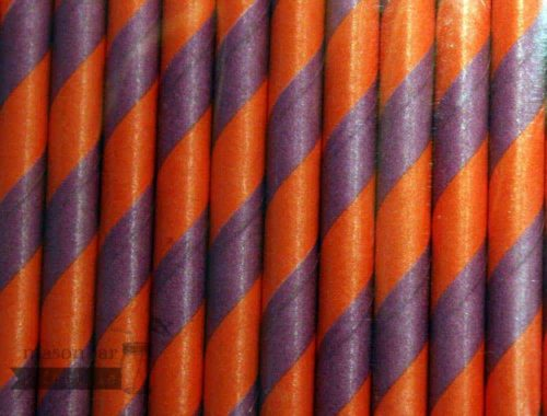 Multi Color #2 Red Purple Candy Striped Biodegradable Paper Party Straw