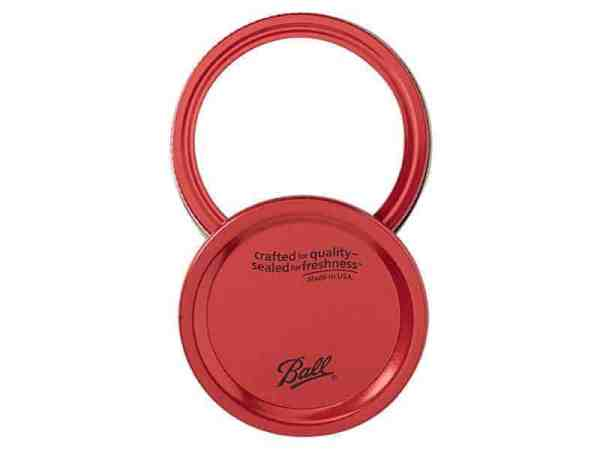 Red Ball Design Series Jar Lids with Bands for Regular