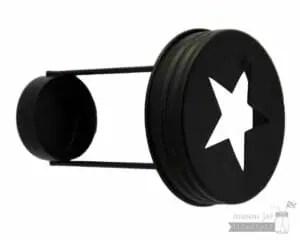 Star cutout tea light candle holder for regular mouth Mason jars