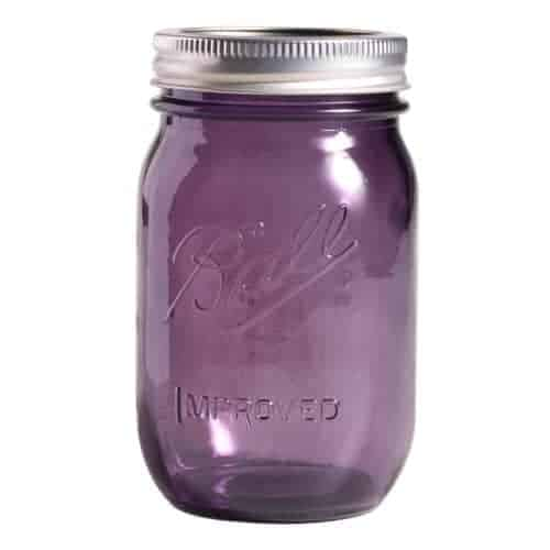 Ball Heritage Collection Purple Regular Mouth Pint 16oz Jar