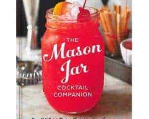 Mason Jar Cocktail Companion gift set with cocktail shaker lid