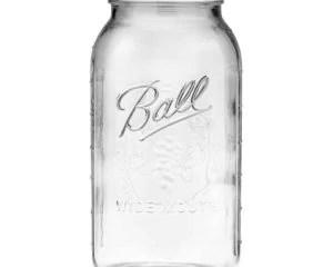 Ball wide mouth half gallon 64oz Mason jar