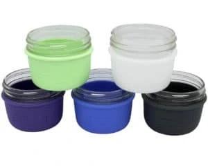 mason-jar-lifestyle-silicone-sleeve-jacket-koozie-wide-mouth-half-pint-8oz-mason-jars-5-colors