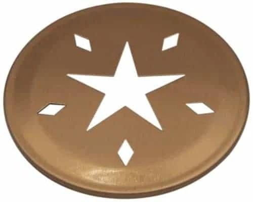Mason Jar Lifestyle Copper star cutout lid for regular mouth Mason jars