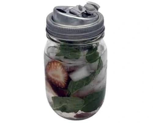 jarware-leak-proof-stainless-steel-drinking-lid-kerr-pint-16oz-regular-mouth-mason-jar-strawberries-mint-open