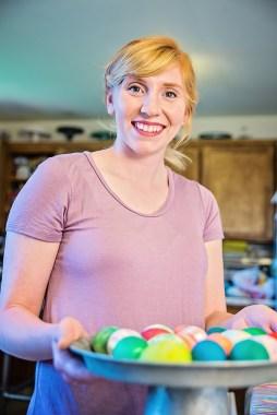 Easter Eggs purple tee