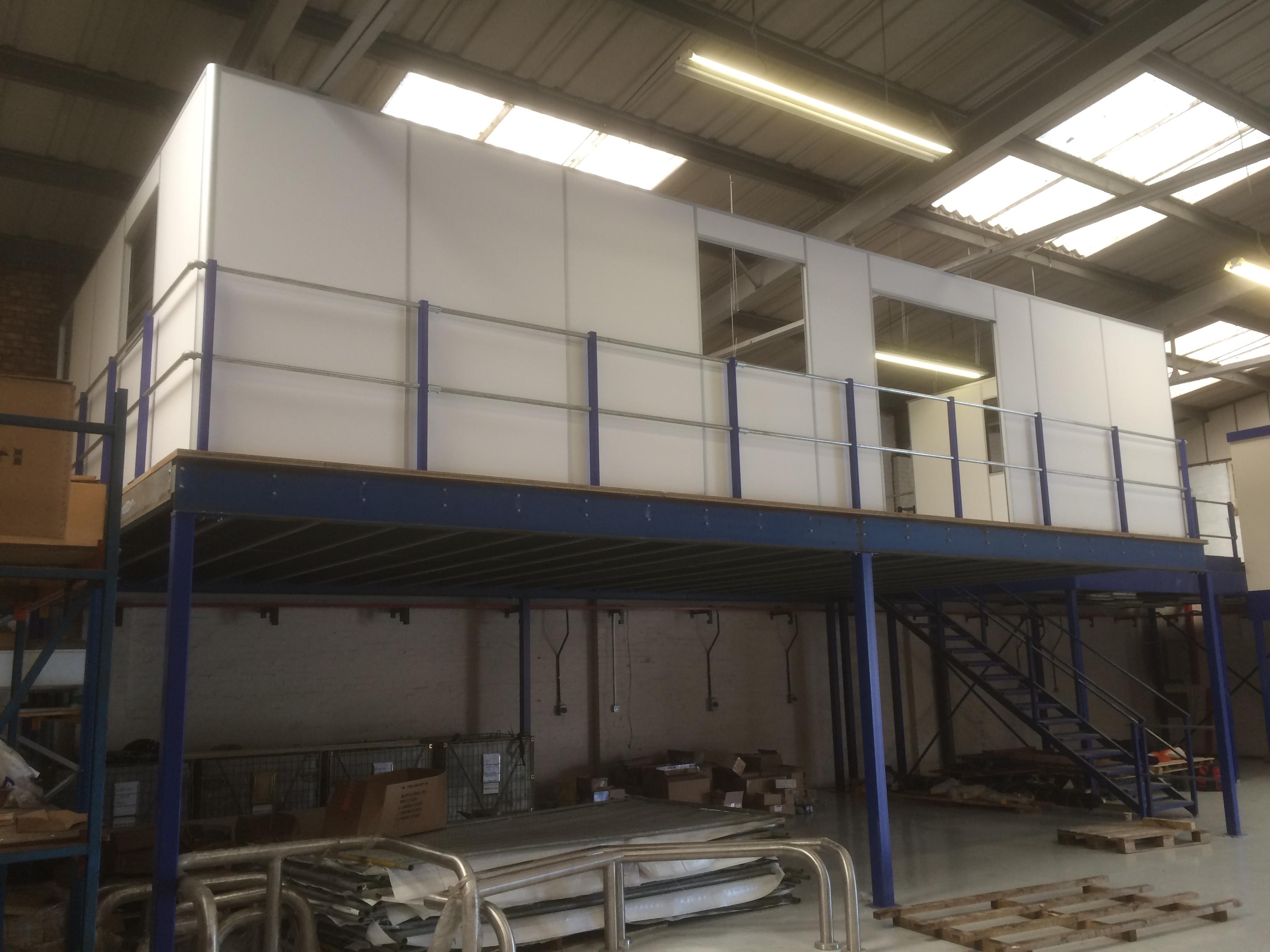 OFFICE BUILD ON MEZZANINE FLOOR  Commercial Refurbishment  Office Partitioning  Masons Interiors