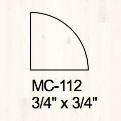 Quarter Round 3/4″ x 3/4″ Image