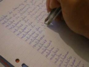 double stylo scotch copier des lignes punition pédagogie sophrologie