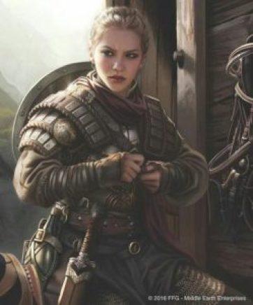 guerrière spirituelle se prépare au combat