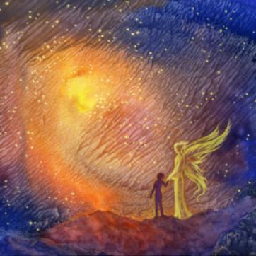 comment faire accomplir de grandes choses ange gardien prière inspiration jaune rouge bleu