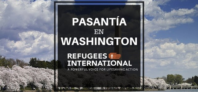 Pasantía en Washington -USA en temas humanitarios