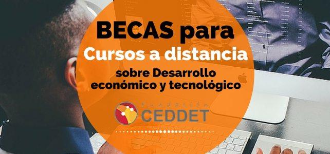Becas para cursos a distancia sobre desarrollo económico y tecnológico